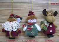 "6"" Christmas Felt Applique Ornament Santa Claus Snowman Reindeer Set Santa Tree Ornaments Decoration Gifts Decor Gadgets"