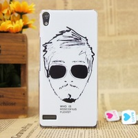 Frosted Famous Star Portrait Plastic Back Case Cover Mobile Phone Case For Huawei p6 matte case for huawei ascend p6