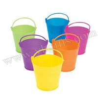 12PCS/LOT,Mini plastic buckets,Paint container.Home decoration.Plastic holder.Paint palette.6 color,6x12cm