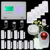 Wireless GSM Auto-Dial Burglar Security Intruder Alarm System SOS Intercom Alarm System DIY kit with Touch Keypad Alarm Panel