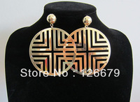 Big Round Disc Earrings,Basketball Wives Earrings