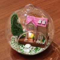 Handmade diy model dollhouse mini pink sweetheart assembling toys model birthday gifts diy house