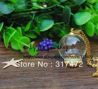 25mm Global 15mm Open Glass Vial Cover &Base Blank&6mm cap connector &70cm neckalce Set Findings DIY Glass Vial  Bottle Jewelry