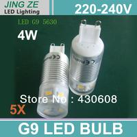 LED G9 3W or 5W 350lm 85-265V   SMD 5630 LED Epistar chip for G9 led ceramic bulb and g9 led ceramic bulb