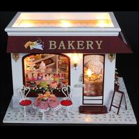 Cake house handmade diy mini model house assembling romantic gifts diy toy dollhouse