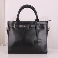 2013 fashion  women's  black single shoulder business suits handbag lady elegant OL tote bag Messenger Bag