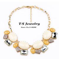 Jewelry Luxury Jewelry Fashion New Light Color Choker Necklace Women Acrylic Elegant Statement Quality Free Shipping