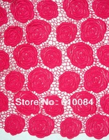 french lace,chemical lace fabric,best quality,new design,one piece 5yards,fast delivery, J174-2 fushia