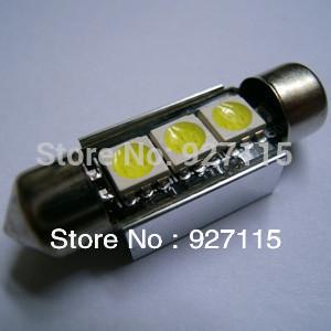 free shipping 30pcs C5W 41MM 3 SMD CANBUS LED error free White LED Festoon Dome Inetrior Reading Auto Light Bulb Lamps(China (Mainland))