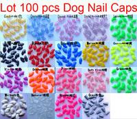 Wholesale - New 100pcs Soft Dog Pet Nail Caps Claw Control Paws off + 5 pcs Adhesive Glue Size XS S M L XL XXL o
