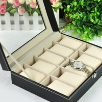 Leather watch display box watch box bracelet watch storage box