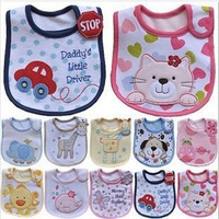 2013 Hot Sale Cotton Baby Bib Infant Saliva Towels Baby Waterproof Bib Cartoon Baby Wear With Different Model free shipping