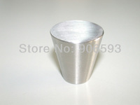 12pcs lot free shipping modern conical stainless steel cabinet knob\furniture knob\drawer knob