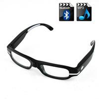 Bluetooth Sun Glasses 2GB Mp3 Player Hi-Fi Stereo Headset Sunglasses Black Optical glasses interchangeable myopia lenses