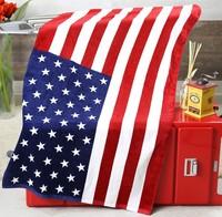 New Arrival Cotton Bath Towel 140*70cm Big US Flag Towel Creative United States Towel Drop Shipping