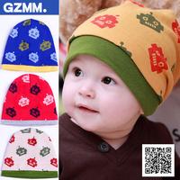 free shipping 3437 princess autumn hat baby hat child hat pocket baby hat robot cotton cloth cap