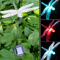 Colorful photoswitchable led lamp plug in the land of garden lights lawn lamp landscape lamp dragonfly lamp