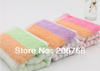 Free Shippig 33*74cm (5pcs/lot) 100% Bamboo Fiber Material Washcloth Face Towel,Children Wash Towel
