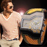 2014  Men Sport Quartz Watch Military Watches Army Irregular Shape Wristwatch Fashion Sport Men's Watches Free Shipping L05441