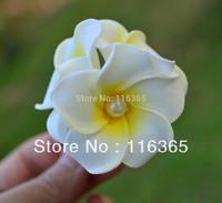12 pcs/pack 1.7'' 4.5cm Girl's Hair Frangipani Flower Triple Hawaiian Bridal Hair Accessories Plumeria Hair Band Free Shipping