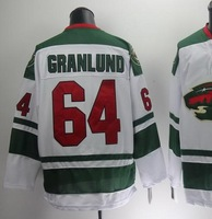 Free shipping  ice hockey Minn #64 Mikael Granlund 64 premier 2014 new style white color cheap Jersey jerseys hot sale gift 702