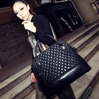 Normic fashion vintage bag portable large bags 2013 women's handbag messenger bag fashion plaid big bag