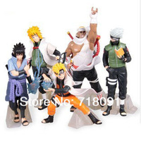 Drop Free Shipping,Furnishing Articles Naruto Doll,PVC Action Figures For Kid's Gifts,5PCS/SET