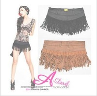 Women Sexy DS Jazz Costumes Hot Low Tassel Shorts S M L