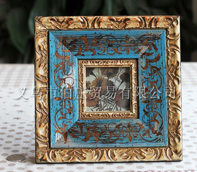 Blue Antique Picture Frames Wood Antique Blue Picture