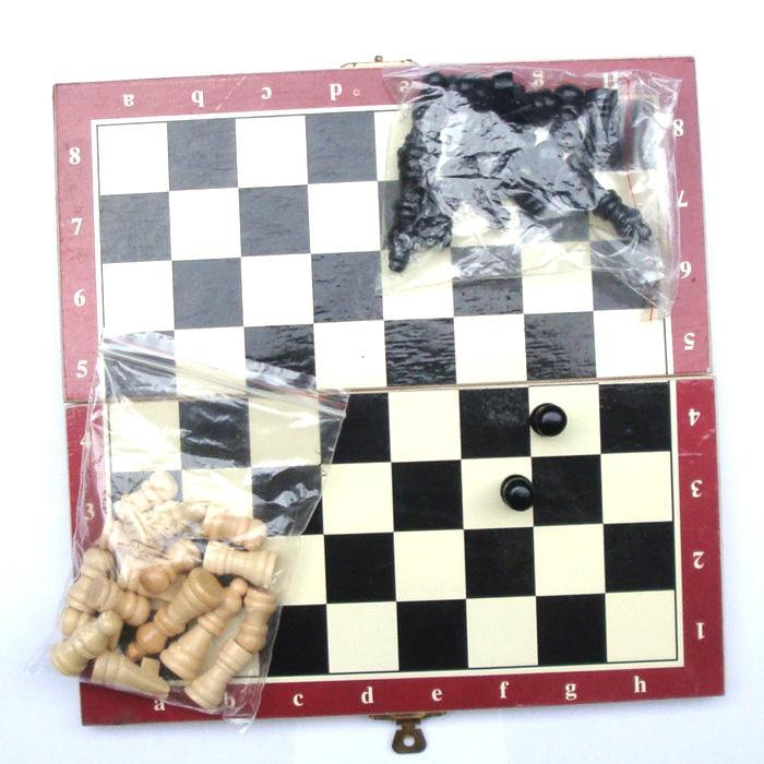 набор 20 деревянные складные портативные шахматы