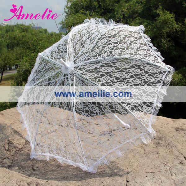 White Lace Umbrella Wedding(China (Mainland))