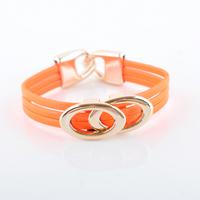 Fashion Europe Beautiful Oval Leather Bracelets Jewelry(12pcs/lot) Wholesale LR0001 Mxed Model For Sale