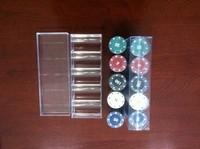 Plastic box softcover 100 chips mahjong poker chips poker chip flower