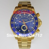 (more items in list) Blue Dial Blue Bezel Luxury Brand Automatic Gold Watches Men Mechanical Hand Wind Dive Wristwatches
