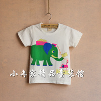 Small soft comfortable 100% child cotton short-sleeve T-shirt summer boy t-shirt