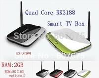 MK888B Bluetooth, 2GB Ram 8GB Rom Quad Core RK3188 Cortex A9 Full HD Multi Media Player Android TV Box MK888 K-R42 CS918 EKB311