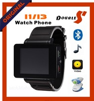 2013 fashion I1 watch mobile phone Quad band,1.8 inch touch screen with bluetooth MP3 FM Free shipping