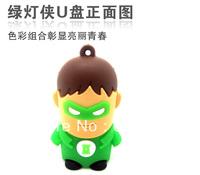 Retail genuine 2G/4G/8G/16G/32G Green lantern style flash drive cute stitch pen drive silicone usb flash drive Free shipping