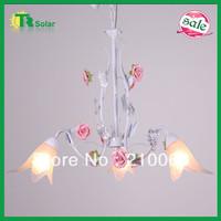 Rose Flower Pendant Lighting 4pcs/lot  Free Shiping Modern Wrought Iron Lights Ceiling lamp living room dinner room bedroom