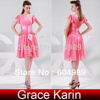Sweet Chiffon Party Dress Watermelon Short Prom Dress Skirt Formal Gown Evening Dress CL4602