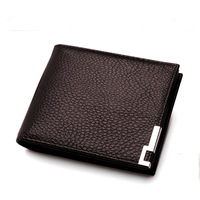 2013 top quality genuine leather men wallet brand with coins free shipping wallets purse