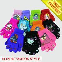 free shipping+11pairs/lot boy Girl Knitted warm Mittens Children Baby/boy Winter Student Warm Gloves & Mittens