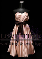2013 Hot Selling Part Dresses A-line Knee-Length Bridesmaid Dress Free Shipping