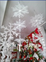 Free shipping 6pcs/set,Christmas decoration 3D snowflake bunch hanging ornaments,Stereoscopic snow as Christmas tree accessories