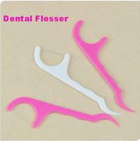 New Arrival Wholesale 100packs/lot Dental Floss Picks Teeth Toothpicks Stick Flossers Oral Care Tooth Health Tools 25pcs/pack