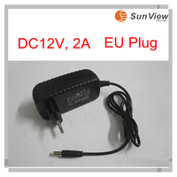 Free Shipping SunView AC 100-240V to DC 12V 2A Converter Adapter Switching Power Supply EU Plug for IP camera and CCTV camera