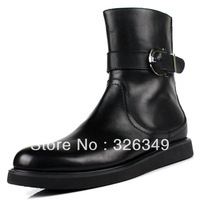 new arrival genuine leather men's boots waterproof men's martin boots  fashion shoes lyrate boots