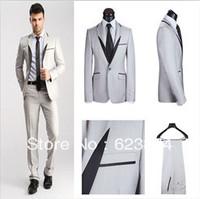 hot salling wool men Italian Design  tilored business &casual suits , single button ,men 2 piece dress suits  with coat pant