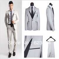 hot salling wool men Italian Design  tilored business &casual suits , single button ,men 2 piece dress suits  with coat pant