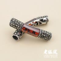 925 thai silver mark race diamond garnet plumbing trap diy bracelet accessories pure silver a4